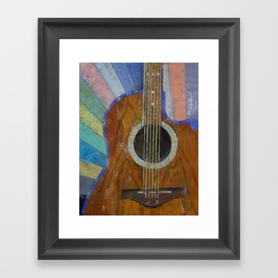 Guitar Sunshine Framed Art Print