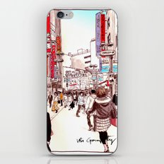 Street In Shibuya iPhone & iPod Skin