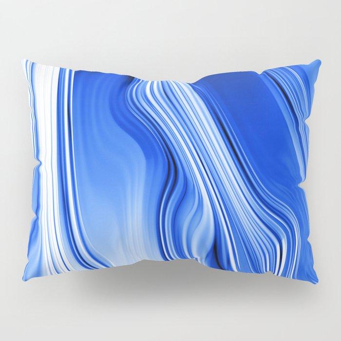 Streaming Blues Pillow Sham