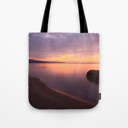 Fiery Sunset over the Porkies Tote Bag