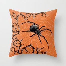 Briar Web- Halloween Throw Pillow