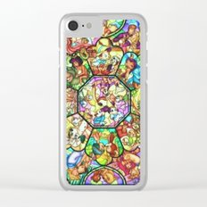 Mickey Mouse and Friends - Stained Glass Window Collage Clear iPhone Case