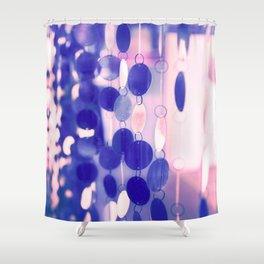 GLAM CIRCLES #Soft Pink/Blue #1 Shower Curtain