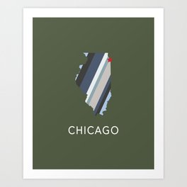 Chicago, Home Sweet Home Art Print