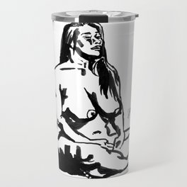 Ink Painting of a Singaporean Travel Mug