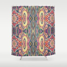 Desert Sun Pattern Shower Curtain