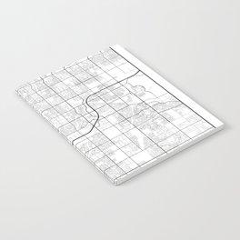 Minimal City Maps - Map Of Gilbert, Arizona, United States Notebook