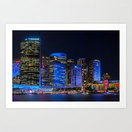 Color the City blue - Vivid Sydney Art Print