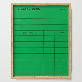 Library Card BSS 28 Green Serving Tray