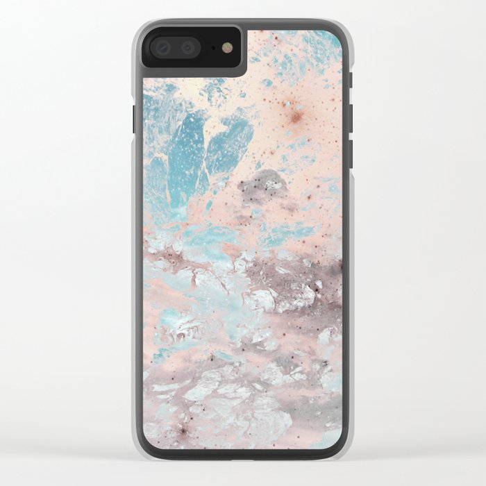 Pastel marble texture Clear iPhone Case