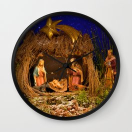 Nativity scene Wall Clock