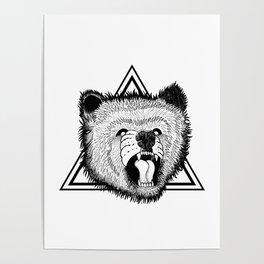 angry bear Poster