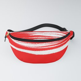 Red and White is Alright Fanny Pack