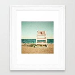 Lifeguard Station #3 Framed Art Print