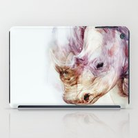 rhino iPad Cases featuring RHINO by beart24