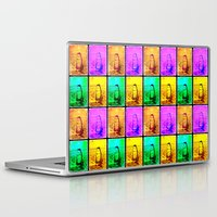 surfing Laptop & iPad Skins featuring surfing by laika in cosmos