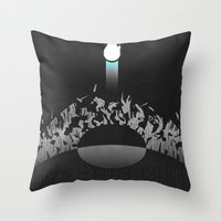 return Throw Pillows featuring Return by Ed Burczyk