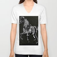 horse V-neck T-shirts featuring Horse  by Saundra Myles