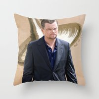 inception Throw Pillows featuring Inception - Cobb by Mel Hampson