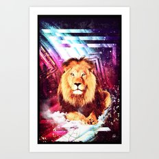 Space Lion - for iphone Art Print
