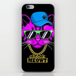 Check Meowt Bling iPhone Skin