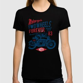 Motorcycle cafe racer T-shirt