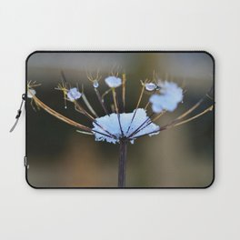 Cow Parsley In the Snow Laptop Sleeve