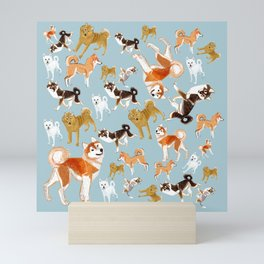 Japanese Dog Breeds Mini Art Print