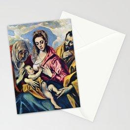 "El Greco (Domenikos Theotokopoulos) ""The Holy Family (1595)"" Stationery Cards"
