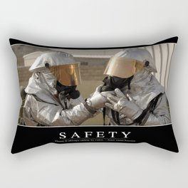 Safety: Inspirational Quote and Motivational Poster Rectangular Pillow