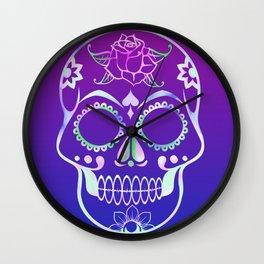 Love Skull (violette gradient) Wall Clock