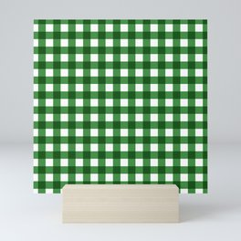 Saint patricks day green checks Mini Art Print