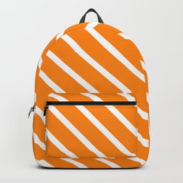 Apricot Diagonal Stripes Backpack