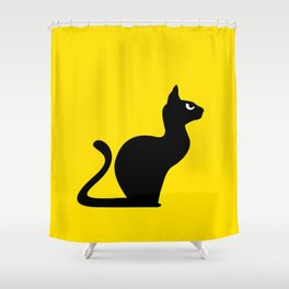 Angry Animals: Cat Shower Curtain