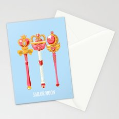 sailor moon wands Stationery Cards