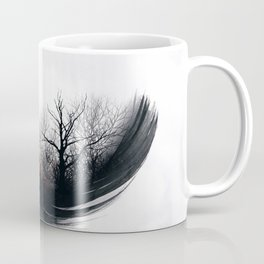 Fire Feather • Black Feather (horizontal) Coffee Mug