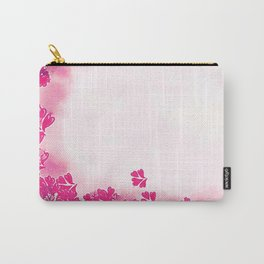 Floral Frame in Pink Carry-All Pouch