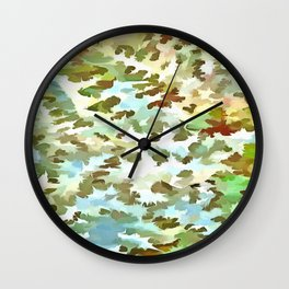 Dusty Miller Abstract Pop Art Wall Clock