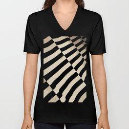 Parallel Zebra. Fashion Textures Unisex V-Neck