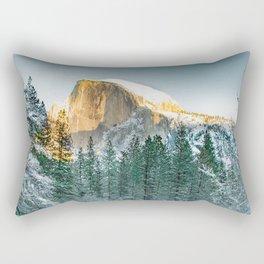 Half Dome In Winter Rectangular Pillow