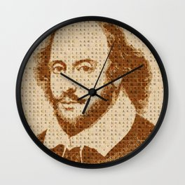 Scrabble Shakespear Version 2 Wall Clock