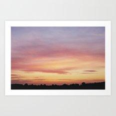 Norfolk, Sunset Art Print