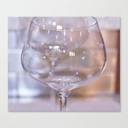 All My Glasses Are Empty Canvas Print