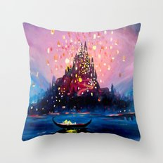 I see the lights Throw Pillow
