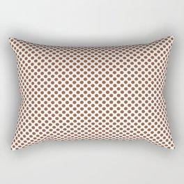 Ginger Bread Polka Dots Rectangular Pillow