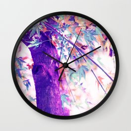 Happy Autumn Tree Wall Clock