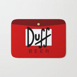 Duff Beer Logo Red Bath Mat