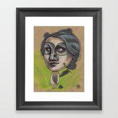 DAINTY PANDA Framed Art Print