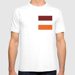 TEAM COLORS 8...Maroon , orange white T-shirt