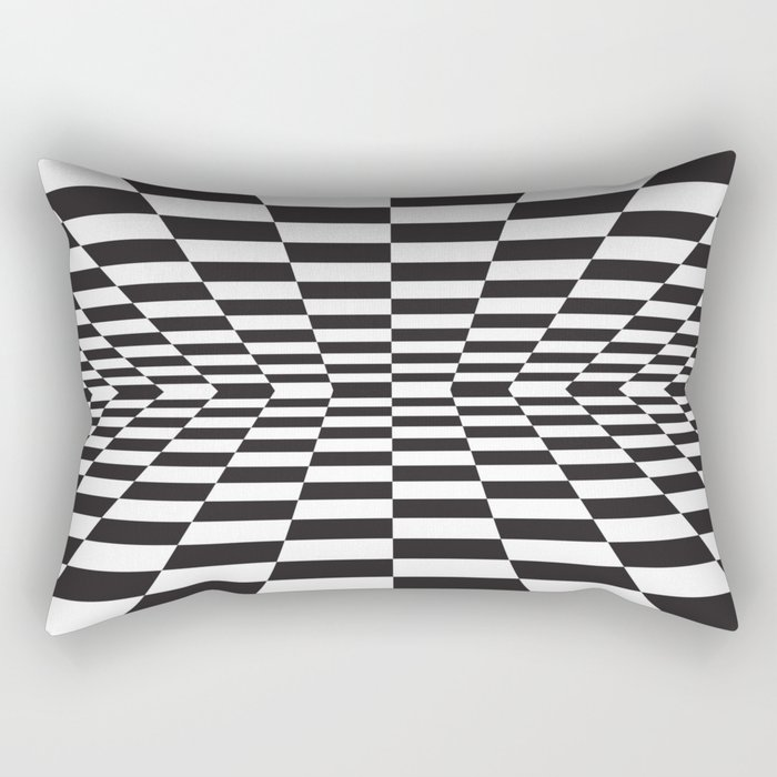 Black and white back and forth - Optical game 15 Rectangular Pillow